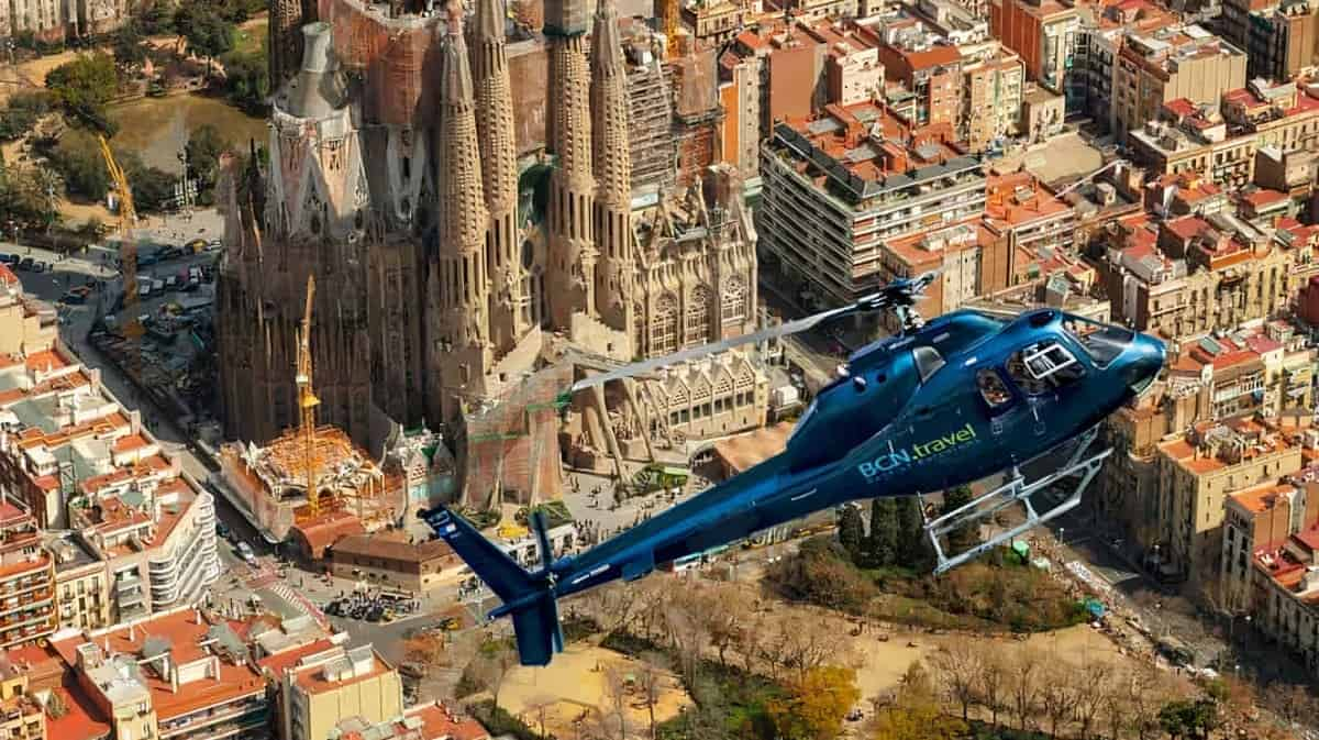 Barcelona Helicopter Tour Wide