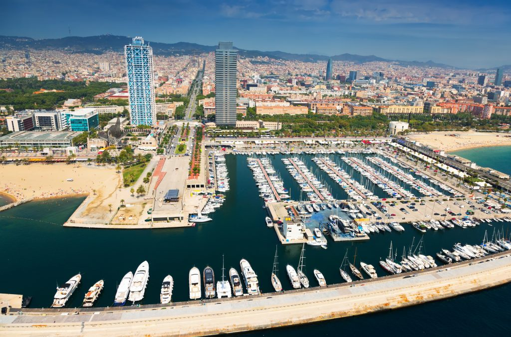 Aerial View Of Port Olimpic
