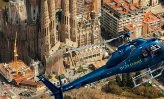helicopter above sagrada familia