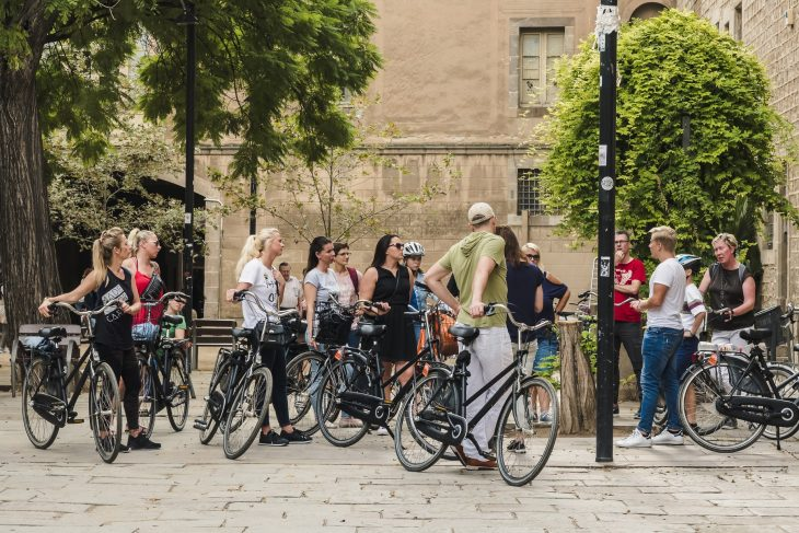 Bicycle Tour In The Historic Center Of Barcelona