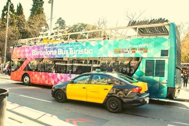 Barcelona Bus Turistic On The Way