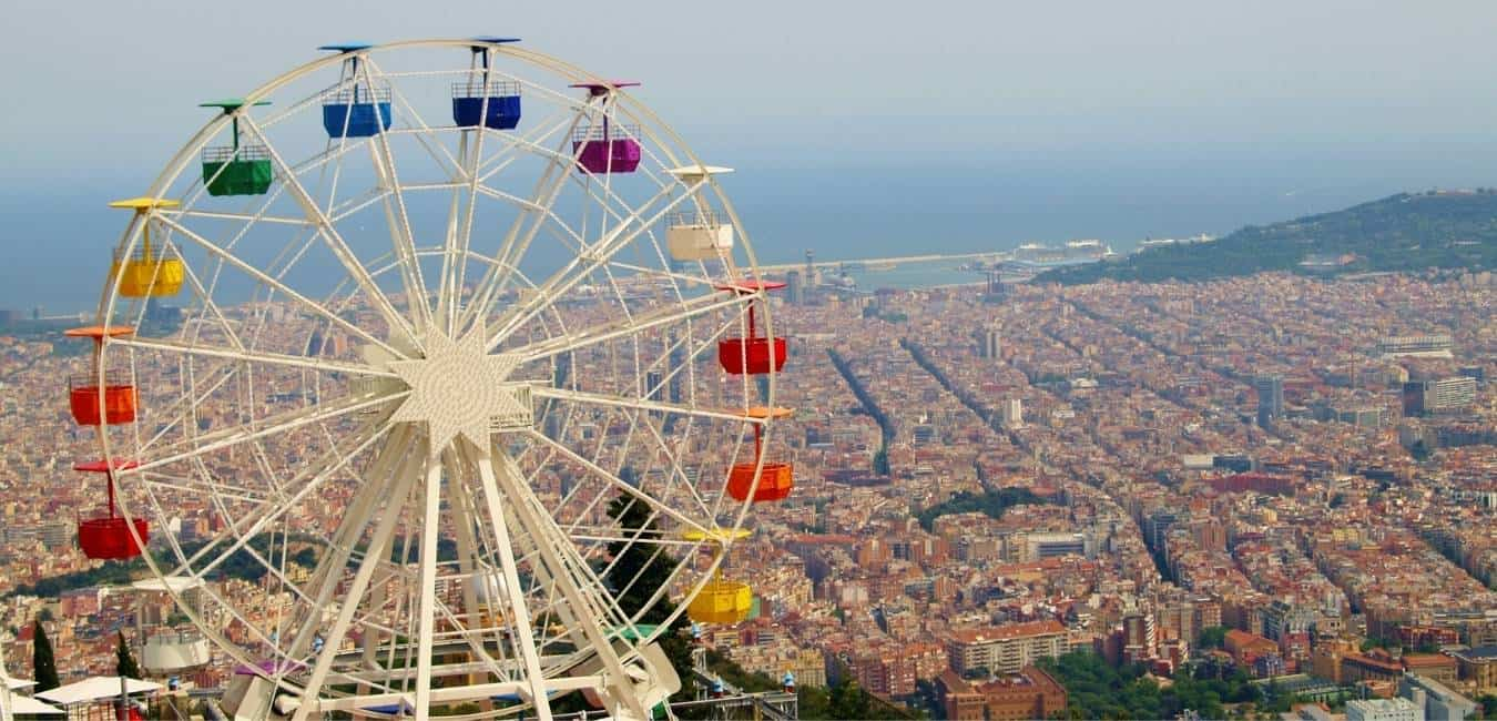 Lively Barcelona In August