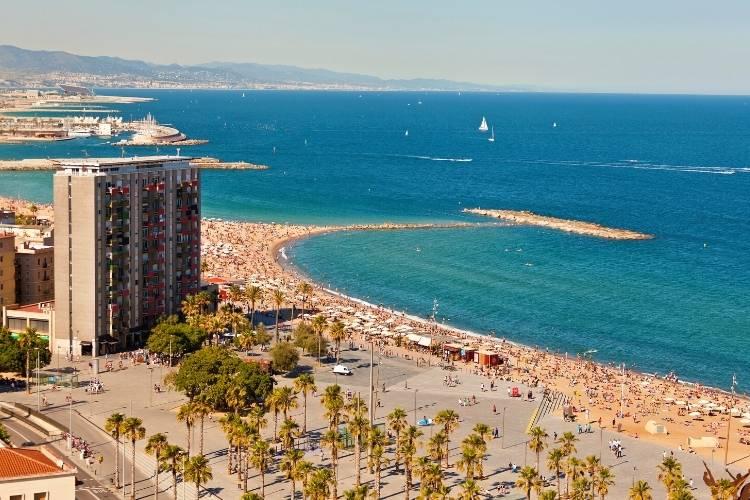 Barcelona in July - Barceloneta Beach