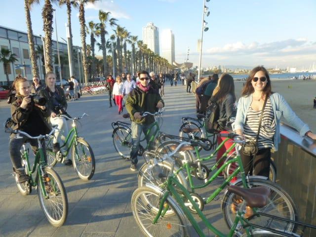 Andar en bicicleta en Barcelona 3