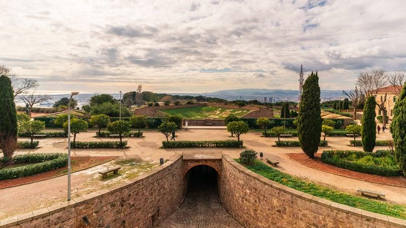 Castell De Montjuic In January