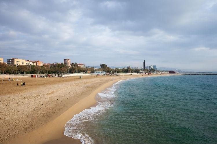 Barcelona in July - Nova Icaria Beach