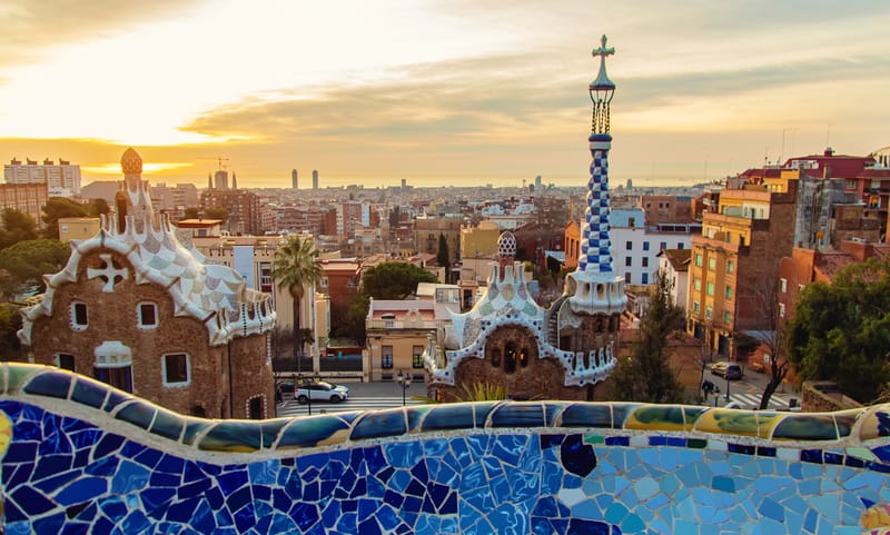 Park Güell At Sunrise