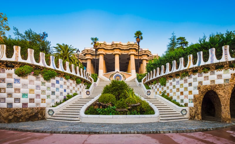 Park Guell Staircase In Barcelona