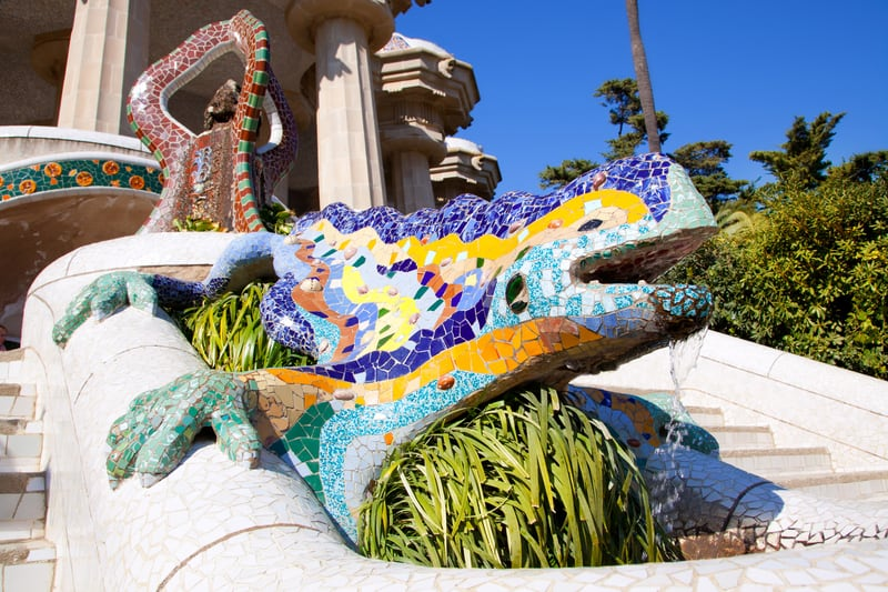 The Mosaic Dragon Salamandra Of Gaudi Welcomes You To Park Güell