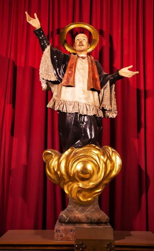 A Statue Of St Joseph Oriol In Barcelona