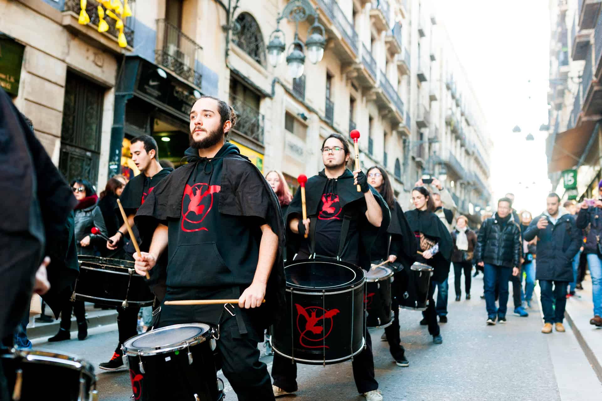 Barcelona Carnival Parade In February