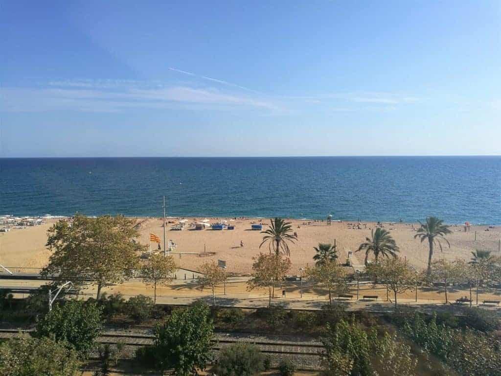Views over Calella Beach