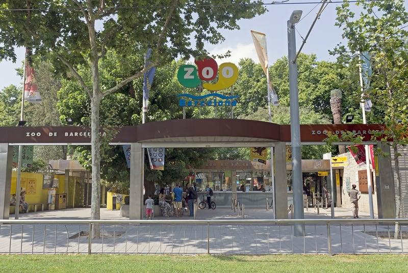 Barcelona Zoo In Parc De La Ciutadella