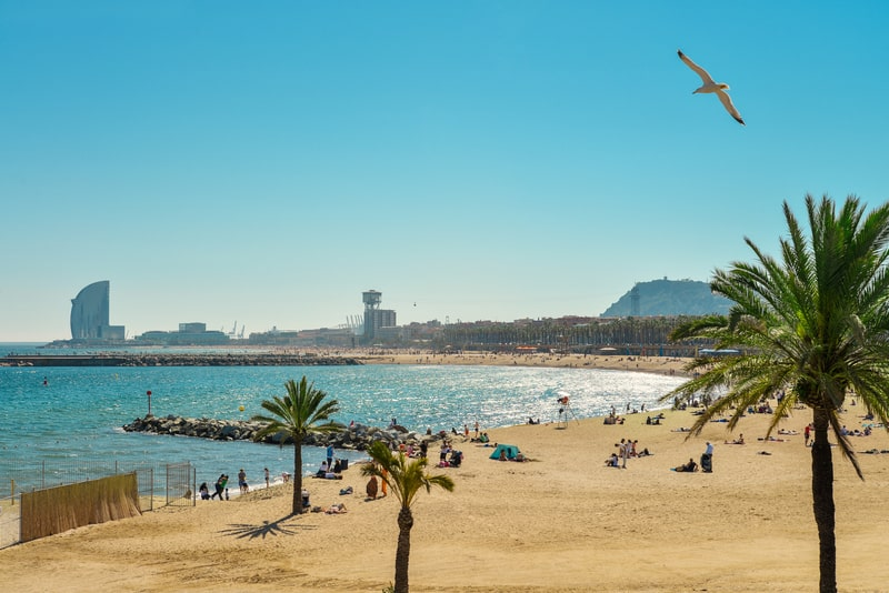 Barceloneta Beach During Spring