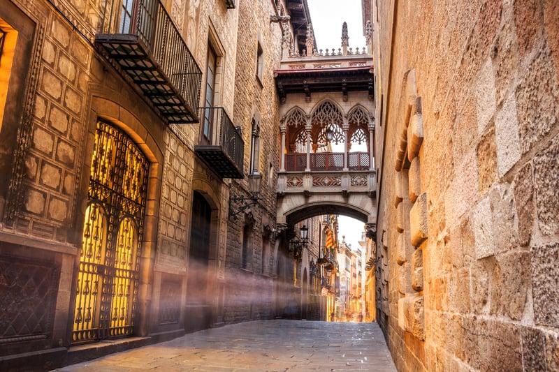 Barri Gotic Of Barcelona