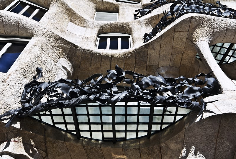 The iron-made balconies of Casa Mila