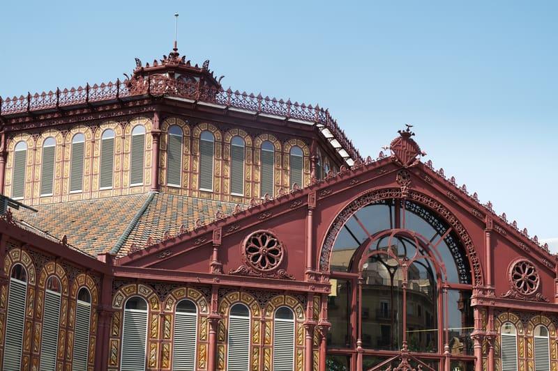 Mercat De Sant Antoni Market In Barcelona, Spain