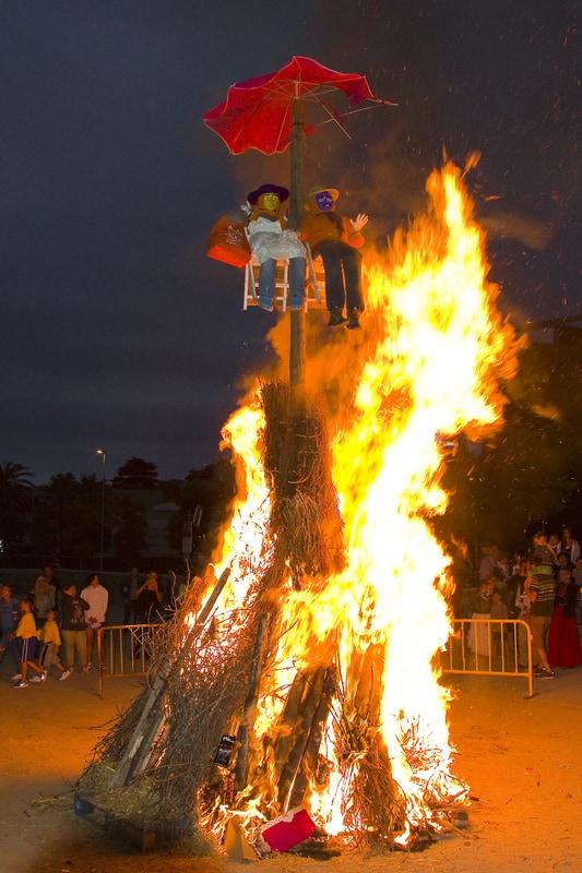 Fiesta de Sant Joan en Barcelona