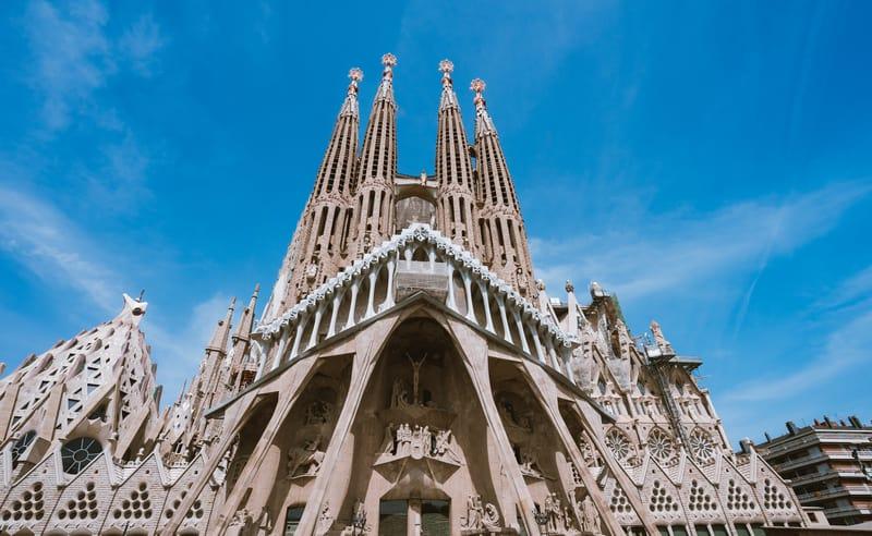 La Sagrada Familia The Cathedral Designed By Gaudi
