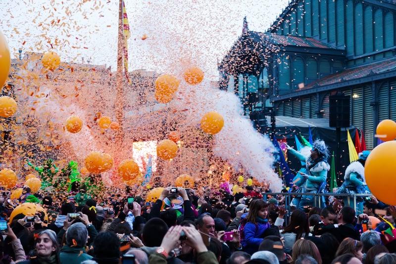 La Taronjada During The Barcelona Carnival - Barcelona in February