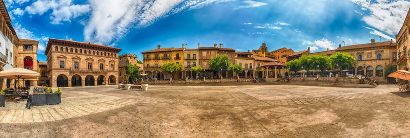 Main Square Of Poble Espanyol Museum