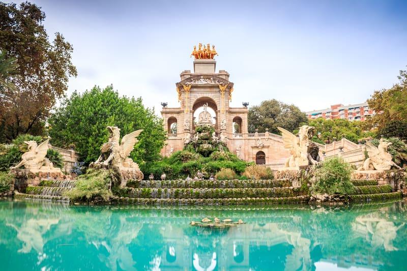 The Majestic Cascada Fountain of Parc De La Ciutadella In Barcelona