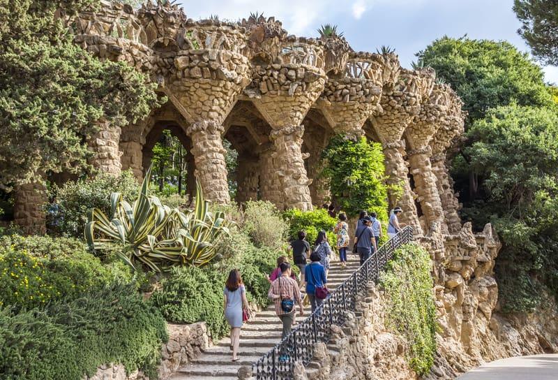 Park Guells Beautiful Colonnade