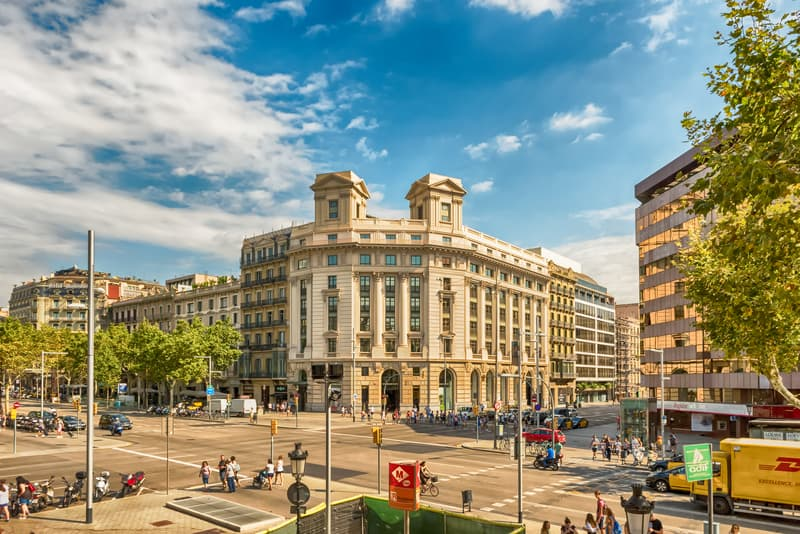 Passeig De Gracia in Barcelona Has World Famous Shops, Cafes, And Restaurants