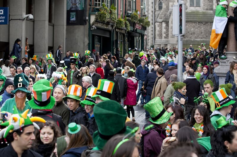 People Dressed In Green During St Patricks Day