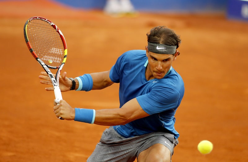 Spanish Tennis Player Rafael Nadal In Barcelona Open