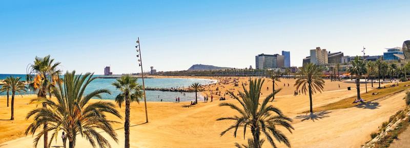 La hermosa playa de la Barceloneta