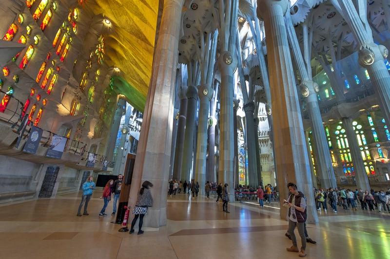 The Interior Of La Sagrada Familia