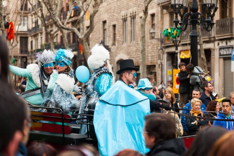 The Parade Of The Carnival King At Barcelona