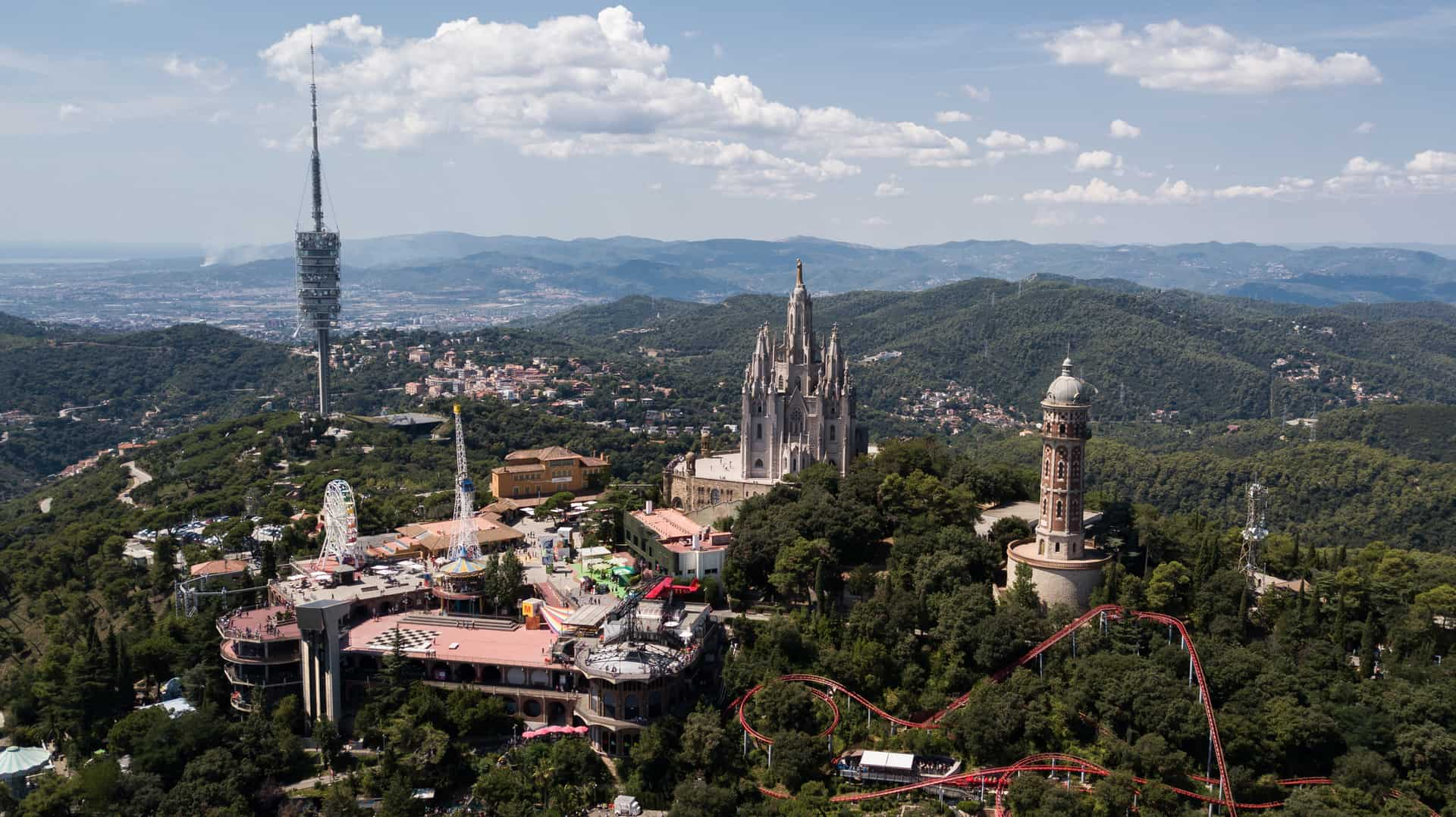 Tibidabo Cathedral And Theme Park